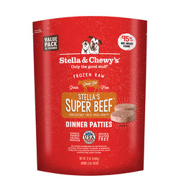 Stella & Chewy's Super Beef Raw Frozen Dinner Patties for Dogs 12lb
