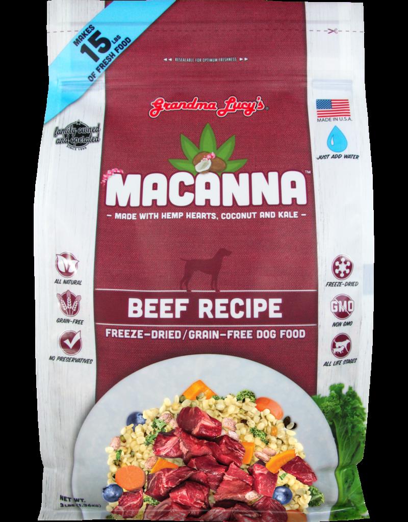Grandma Lucy's Grandma Lucy's Macanna Beef Recipe Freeze-Dried Dog Food