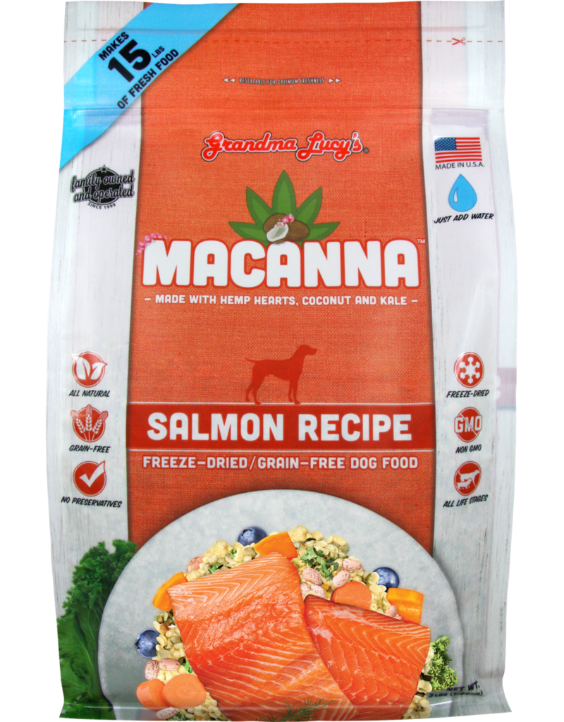Grandma Lucy's Grandma Lucy's Macanna Salmon Recipe Freeze-Dried Dog Food
