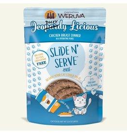 Weruva Weruva Jeopurrdy Licious - Chicken Breast Dinner Slide & Serve Pate Wet Cat Food 2.8oz Pouch