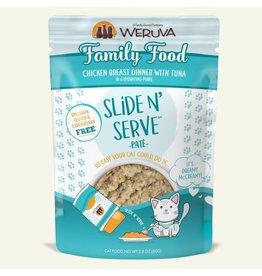 Weruva Weruva Family Food - Chicken Breast Dinner with Tuna Slide & Serve Pate Wet Cat Food 2.8oz Pouch