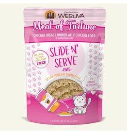 Weruva Weruva Meal Of Fortune - Chicken Breast Dinner with Chicken Liver Slide & Serve Pate Wet Cat Food 2.8oz Pouch