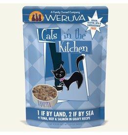Weruva Weruva 1 If By Land, 2 If By Sea - Tuna, Beef & Salmon Dinner In Gravy Wet Cat Food 3.0oz Pouch