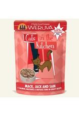Weruva Weruva Mack, Jack & Sam - Salmon, Mackerel & Skipjack Tuna Dinner In Gravy Wet Cat Food 3.0oz Pouch