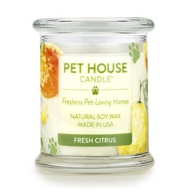 One Fur All Pet House Fresh Citrus Natural Soy Candle 8.5oz Jar