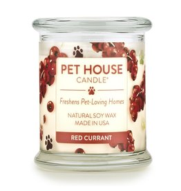 One Fur All Pet House Red Currant Natural Soy Candle 8.5oz Jar