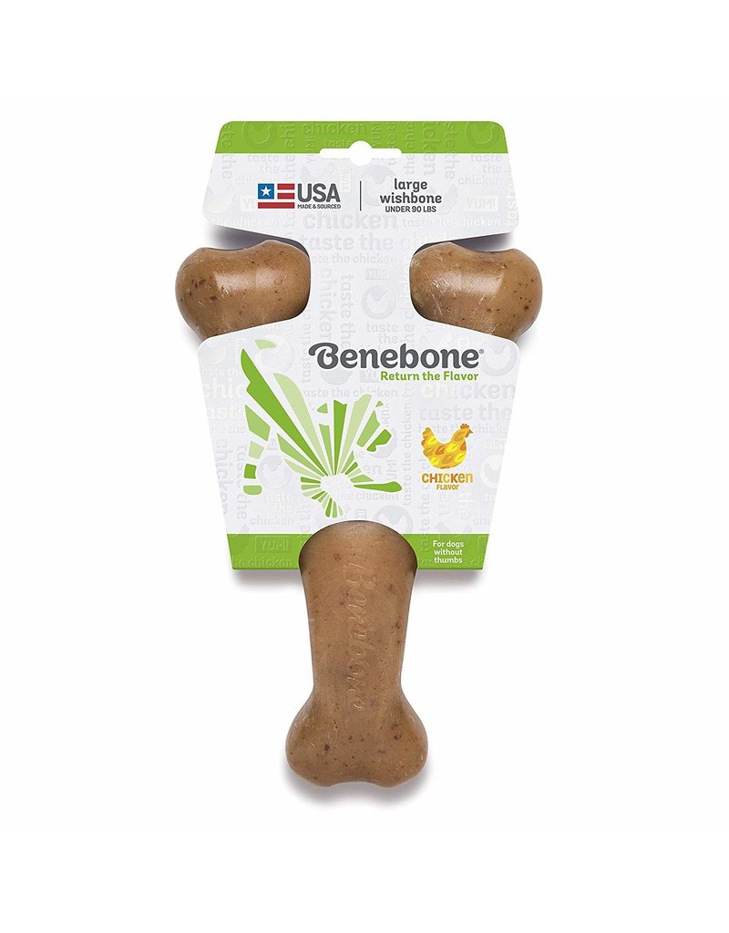 Benebone Benebone Wishbone Chicken Dog Chew Toy Large