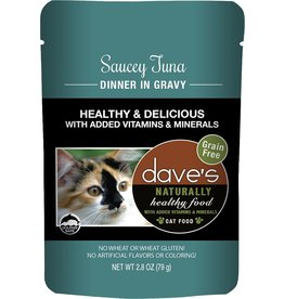 Dave's Pet Food Dave's Pet Food Naturally Healthy Tuna and Gravy Dinner Wet Cat Food 2.8oz Pouch