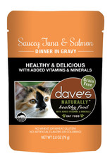 Dave's Pet Food Dave's Pet Food Naturally Healthy Tuna and Salmon Dinner Wet Cat Food 2.8oz Pouch
