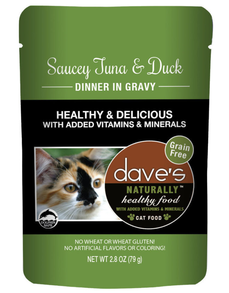 Dave's Pet Food Dave's Pet Food Naturally Healthy Tuna and Duck Dinner Wet Cat Food 2.8oz Pouch