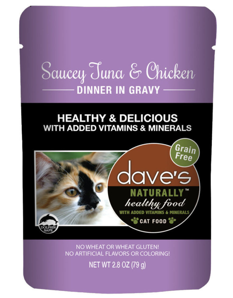 Dave's Pet Food Dave's Pet Food Naturally Healthy Tuna and Chicken Dinner Wet Cat Food 2.8oz Pouch