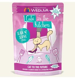 Weruva Weruva Cat's to The Future - Chicken and Salmon Dinner Slide & Serve Pate Wet Cat Food 3.0oz Pouch