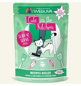 Weruva Weruva Meowiss Bueller - Chicken and Lamb Dinner Slide & Serve Pate Wet Cat Food 3.0oz Pouch