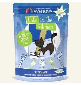 Weruva Weruva Cattyshack - Chicken and Shrimp Dinner Slide & Serve Pate Wet Cat Food 3.0oz Pouch