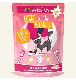 Weruva Weruva The Karate Kitty - Beef and Salmon Dinner Slide & Serve Pate Wet Cat Food 3.0oz Pouch