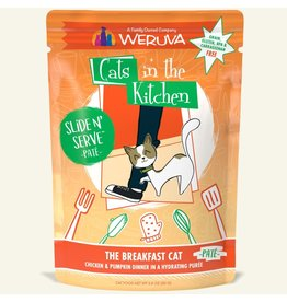 Weruva Weruva The Breakfast Cat - Chicken and Pumpkin Dinner Slide & Serve Pate Wet Cat Food 3.0oz Pouch