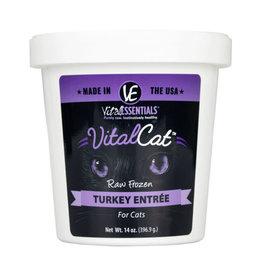 Vital Essentials Turkey Entree Raw Frozen Cat Food 14oz Tub