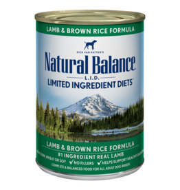 Natural Balance Can Lamb and Rice 13oz