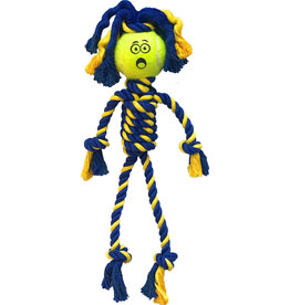 Petsport Petsport Braided Rope Rasta Man w Tennis Ball Twisted Dog Toy Mini