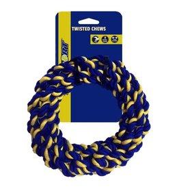 Petsport Petsport Braided Cotton Rope Ring Twisted Dog Toy Medium