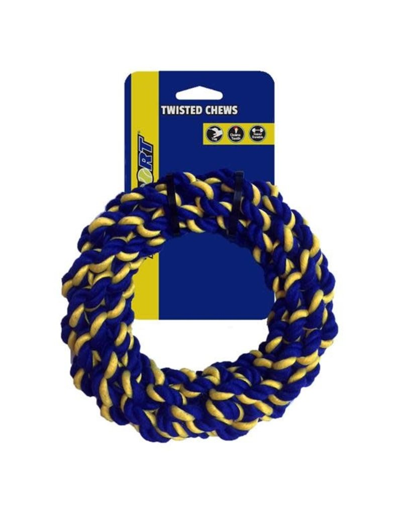 Petsport Petsport Braided Cotton Rope Ring Twisted Dog Toy Medium