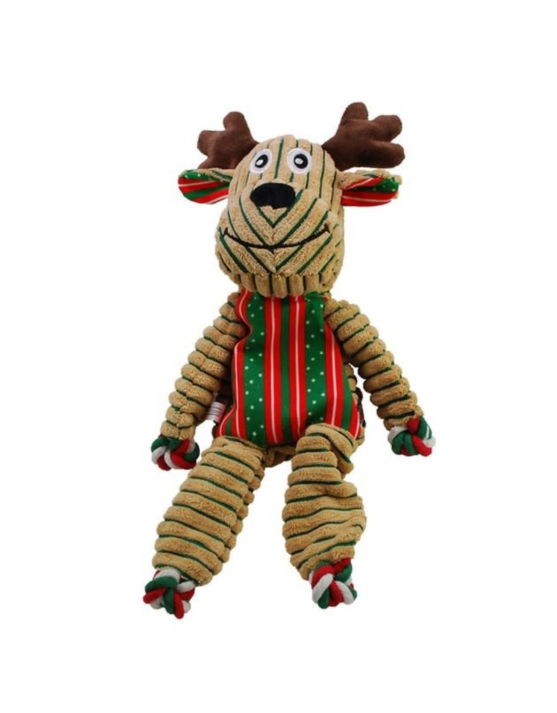 Kong Floppy Knots Holiday Reindeer Large Dog Toy