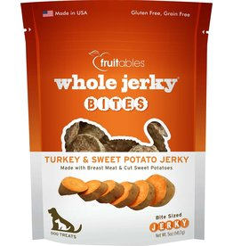 Fruitables Fruitables Whole Jerky Bites Turkey & Sweet Potato Dog Treats 5oz