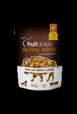 Fruitables Fruitables Skinny Mini Grilled Bison Flavor Chewy Dog Treats 5oz