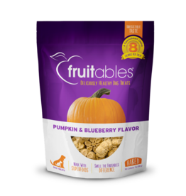 Fruitables Fruitables Pumpkin & Blueberry Flavor Crunchy Dog Treats 7oz