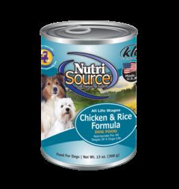 NutriSource Super Premium Pet Foods NutriSource Chicken & Rice Canned Dog Food 13oz