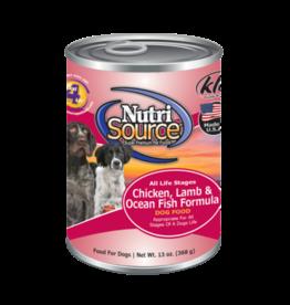 NutriSource Super Premium Pet Foods NutriSource Chicken Lamb & Ocean Fish Canned Dog Food 13oz