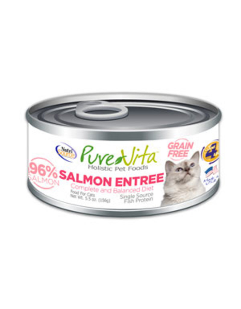 Pure Vita Pure Vita Salmon Entree Grain Free Canned Cat Food 5.5oz