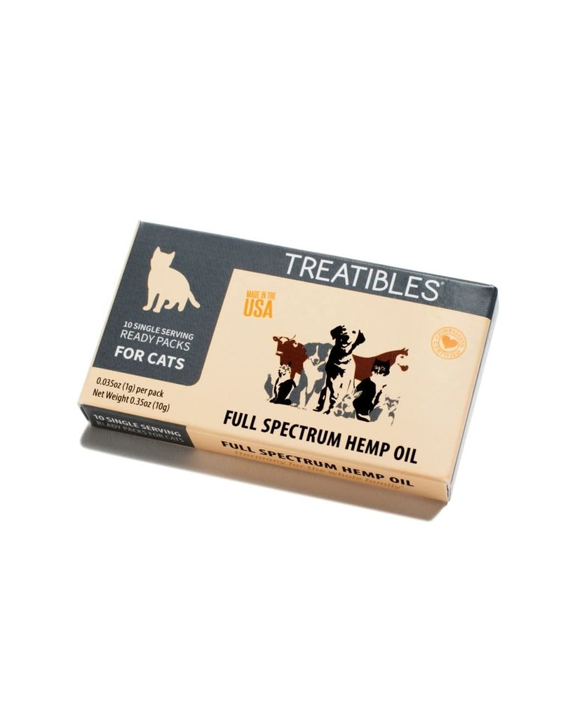 Treatibles Harmony For The Whole Family Treatibles Organic Full Spectrum Hemp Oil Ready Pack for Cats 10ct - Feline