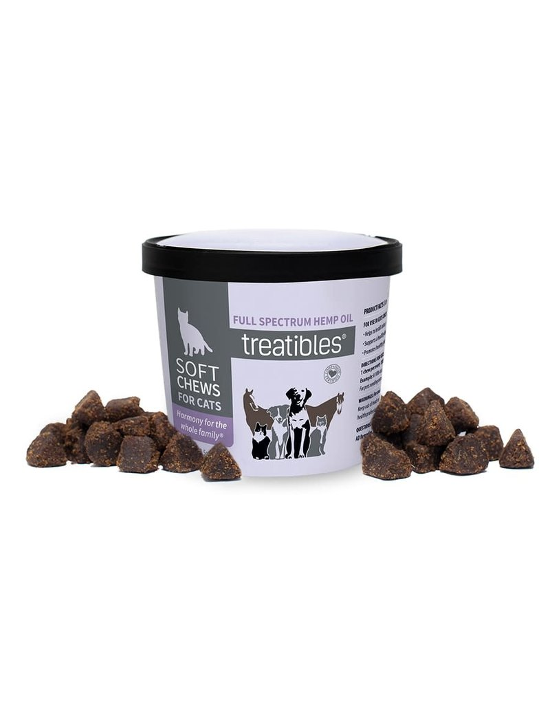 Treatibles Harmony For The Whole Family Treatibles Organic Full Spectrum Hemp Oil Soft Chews for Cats 100ct - Feline