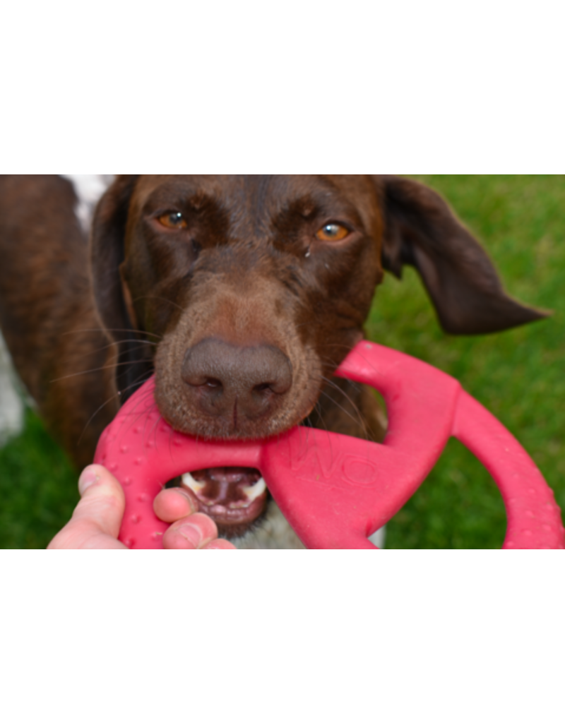 WO Dog Toys Widows & Orphans WO Disc Cranberry Dog Toy