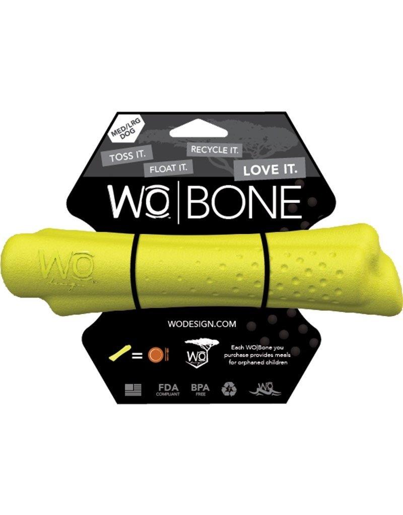 WO Dog Toys Widows & Orphans WO Bone Yellow Medium/Large Dog Toy