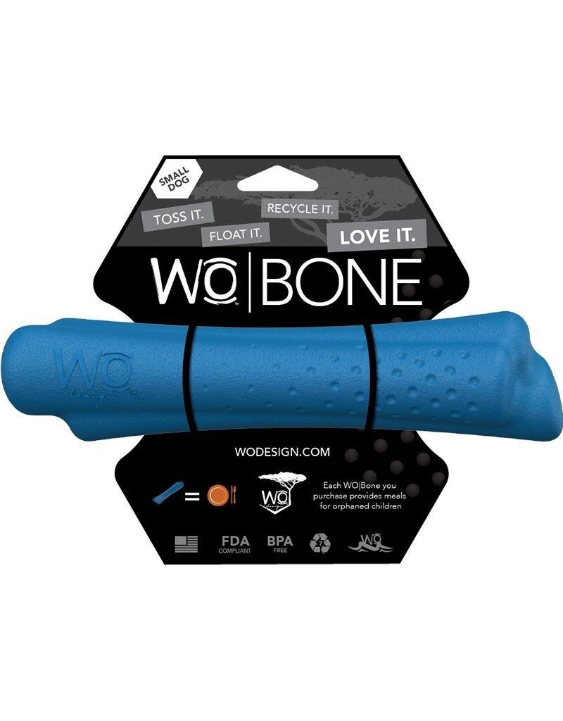 WO Dog Toys Widows & Orphans WO Bone Blue Small Dog Toy