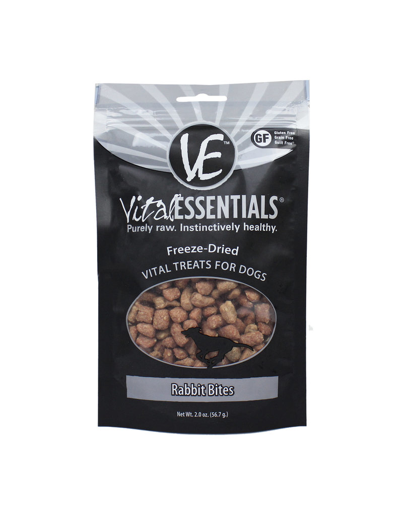 Vital Essentials Vital Essentials Freeze-Dried Rabbit Bites Dog Treats 2oz