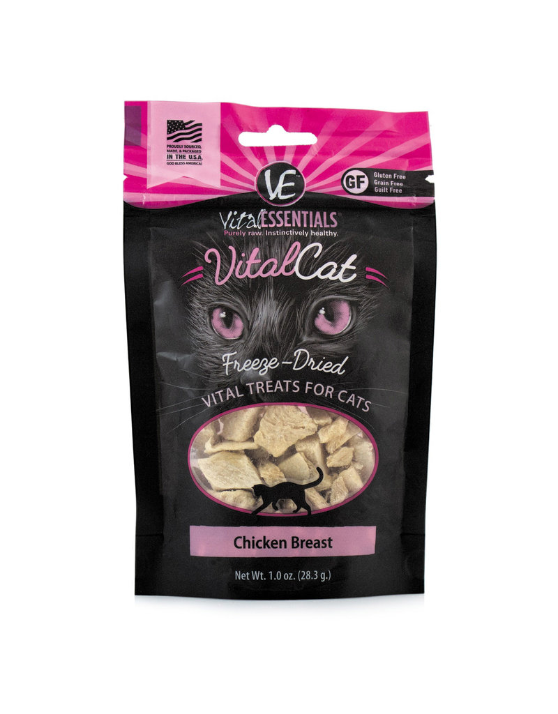 Vital Essentials Vital Essentials VitalCat Freeze-Dried Chicken Breast Cat Treats 1.0oz