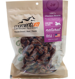 Momentum Momentum Freeze-Dried Chicken Hearts Dog & Cat Treats 4oz