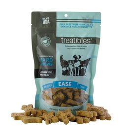 Treatibles Harmony For The Whole Family Hemp Treats for Dogs over 40lbs (Blueberry)