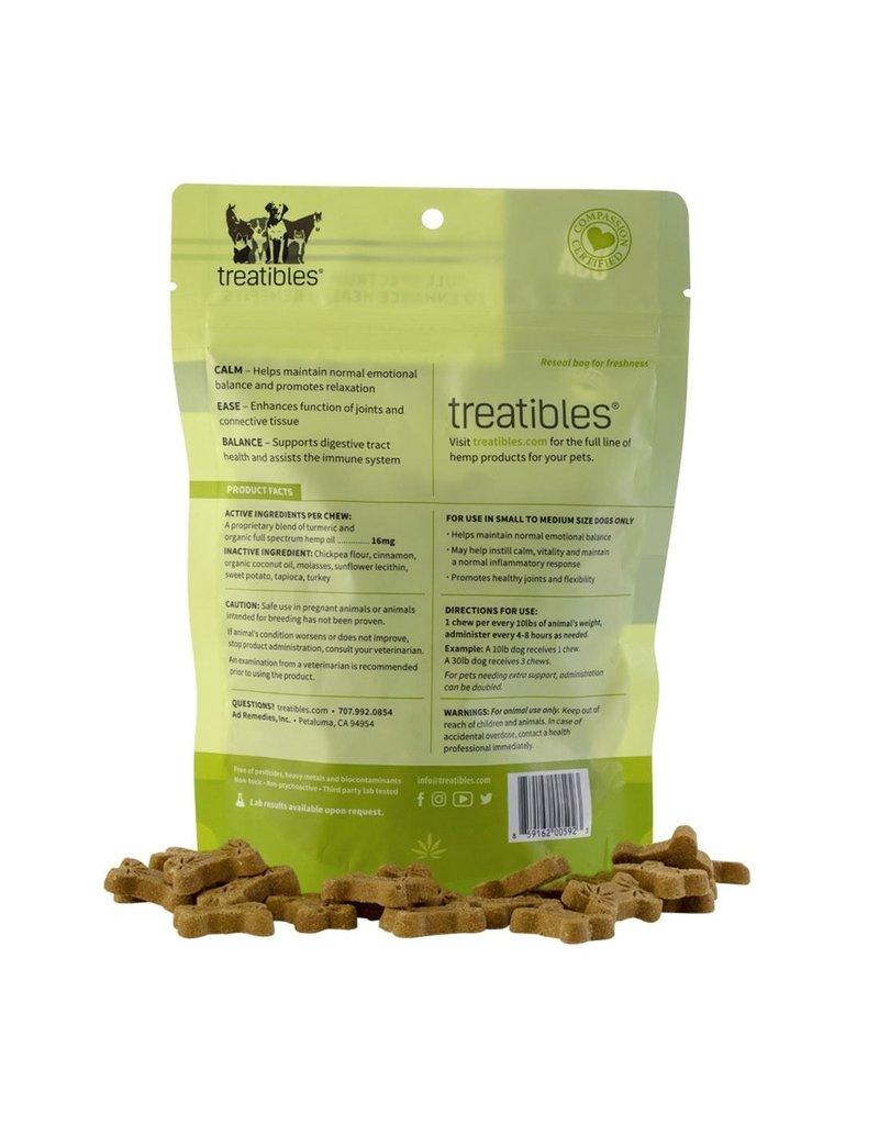 Treatibles Harmony For The Whole Family Treatibles Organic Full Spectrum Hemp Oil Calm (Turkey Flavor) Small Hard Chews Canine Under 40lbs