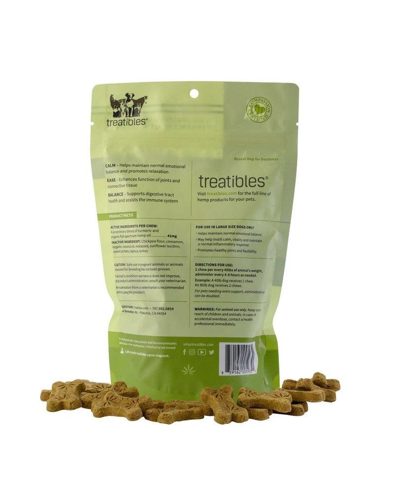 Treatibles Harmony For The Whole Family Treatibles Organic Full Spectrum Hemp Oil Calm (Turkey Flavor) Large Hard Chews Canine Over 40lbs