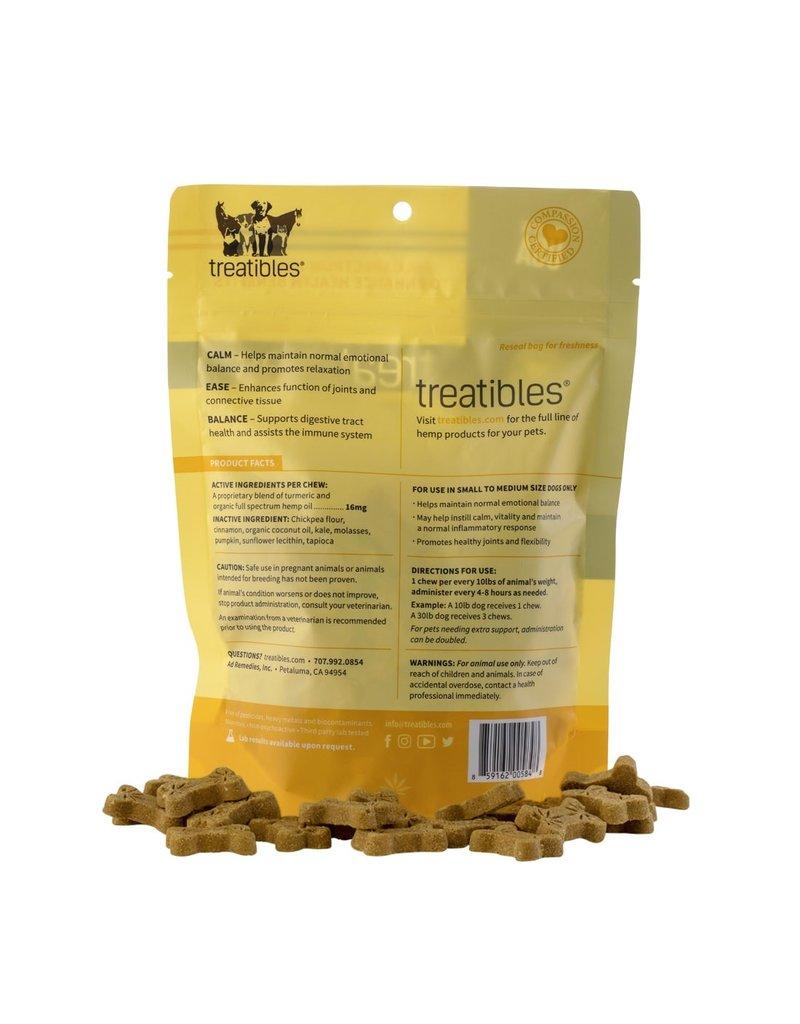 Treatibles Harmony For The Whole Family Treatibles Organic Full Spectrum Hemp Oil Balance (Pumpkin Flavor) Small Hard Chews Canine Under 40lbs