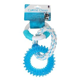 Multi Pet MultiPet Canine Clean Three Ring Peppermint Dog Toy 11in