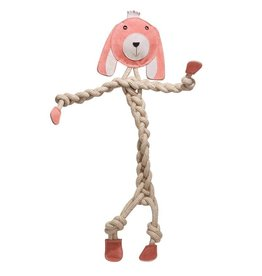 "HuggleHounds HuggleHounds Rope Knotties Bunny Dog Toy Large 16.25"""