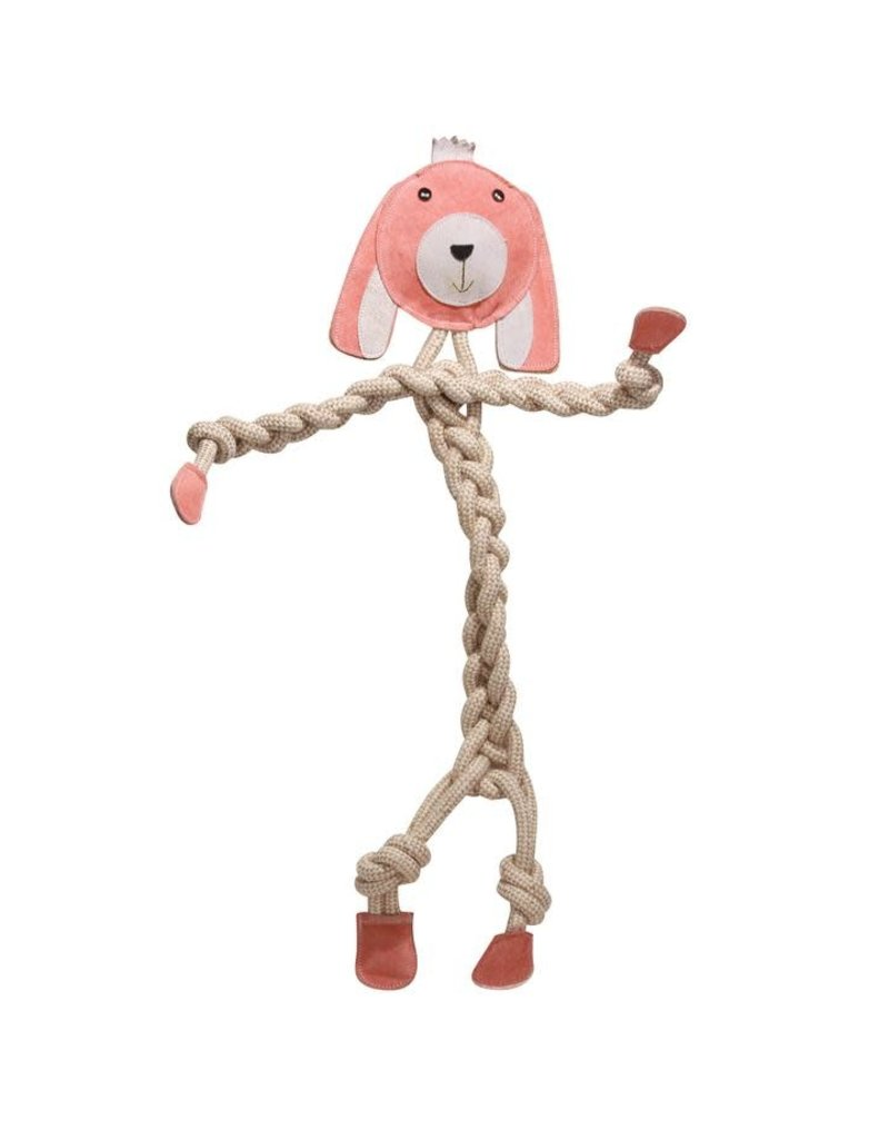 HuggleHounds HuggleHounds Rope Knotties Bunny Dog Toy Large 16.25""