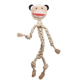 HuggleHounds Monkey Knotted Rope Dog Toy Large 16.25""