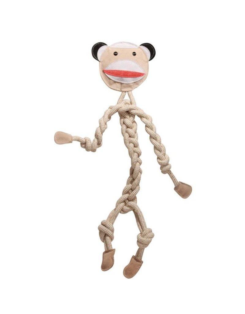 """HuggleHounds HuggleHounds Rope Knotties Sock Monkey Dog Toy Large 16.25"""""""
