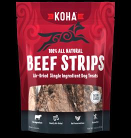 Koha Air Dried Beef Strips Dog Treats 3.25oz